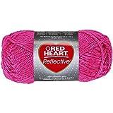 Abrigos de Lana Corazón Rojo Reflectante yarn-neon Rosa, otro, multicolor