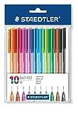 Staedtler 43235MPB10 Rainbow Ballpens - Pack of 10