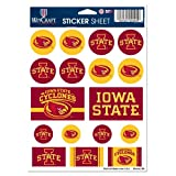 Wincraft NCAA Iowa State University Vinyl Sticker Sheet, 5-Inchx7-Inch