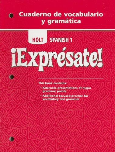 Expresate Level 1 Holt Spanish Level 1 Author