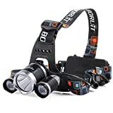 Patuoxun 5000 Lumen LM LED Flashlight Bicycle HeadLight HeadLamp 3 X CREE XM-L XML T6 Bike Front  Head Torch Lamp Camping Hiking Cycling Light + USB Cable Battery