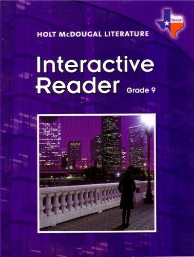 Holt McDougal Literature Interactive Reader Grade 9 Texas