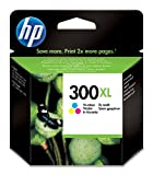 HP CC644EE - Cartucho de tinta original XL, Tricolor (cian, magenta, amarillo)