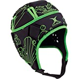 Gilbert Boy's Attack Blitz Head Guard - Black/Green, 51-Inch/Small