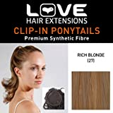 Love Hair Extensions Percilla Drawstring Synthetic Hair Ponytail Colour 27 Rich Blonde 16 -inch