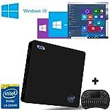 [Con Mini tastiera senza fili] SEGURO® Z83 mini compute Windows 10 TV Box Intel Atom x5-Z8300(2M Cache, up to 1.84 GHz) Intel HD Graphics DDR3 2GB/ Windows(C:) 32GB 1000Mbps LAN Bluetooth 4.0 WIFI IEEE 802.11a/b/g/n 2.4G+5.8G Mini PC