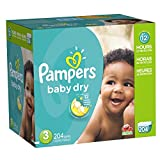Pampers Baby Dry Diapers Size-3 Economy Pack Plus, 204-Count
