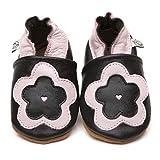 Suaves Zapatos De Cuero Del Bebé Florón 6-12 meses
