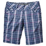 Jack Wolfskin Women's Softshellshorts Women's Plaid blue Shady Blue Checks Size:16