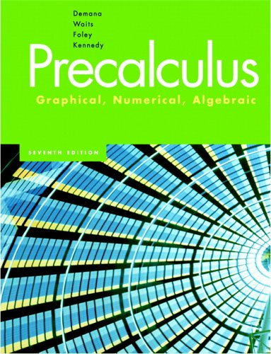 Precalculus: Graphical, Numerical, Algebraic (7th Edition)