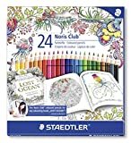 STAEDTLER 144 C24JB Noris Club Colouring Pencils, Exclusive Johanna Basford Edition - Assorted, Pack of 24