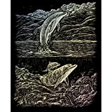 Royal & Langnickel Glow In The Dark Engraving Art A4 Size Dolphin Cove Designed Painting Set