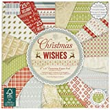 First Edition Premium Paper Pad 6-inch x 6-inch 6 Christmas Wishes
