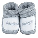 Kinousses - par de patucos para bebé gris gris Talla:0-1 meses