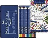 Faber-Castell Art Grip Aquarelle Tin 12 Pencils Asstd