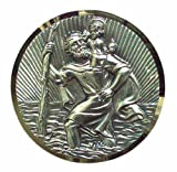 Cartrend 60152, St Christopher Badge, Finely Silver-Plated, with Filigree Diamond Cut