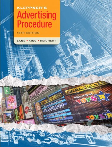 Kleppners advertising procedure 18th edition pearson custom kleppners advertising procedure 18th edition pearson custom business resources fandeluxe Images