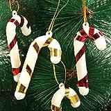 HuaYang Small Crutch Cane Shape Xmas Tree Decor Pendants Gift Decoration 10pcs(Random Color)